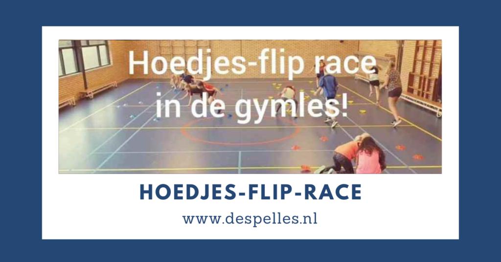 Hoedjes-Flip-race in de gymles