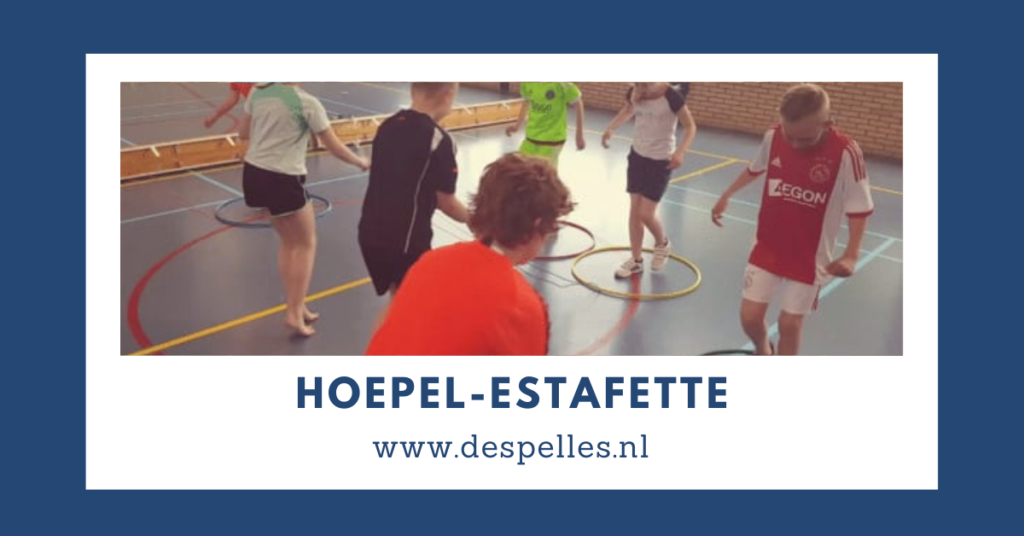 Hoepel-Estafette in de gymles