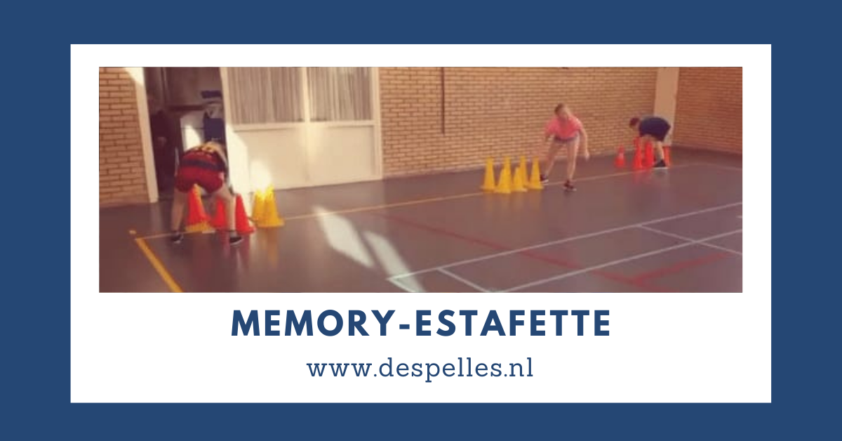 Memory-Estafette in de gymles