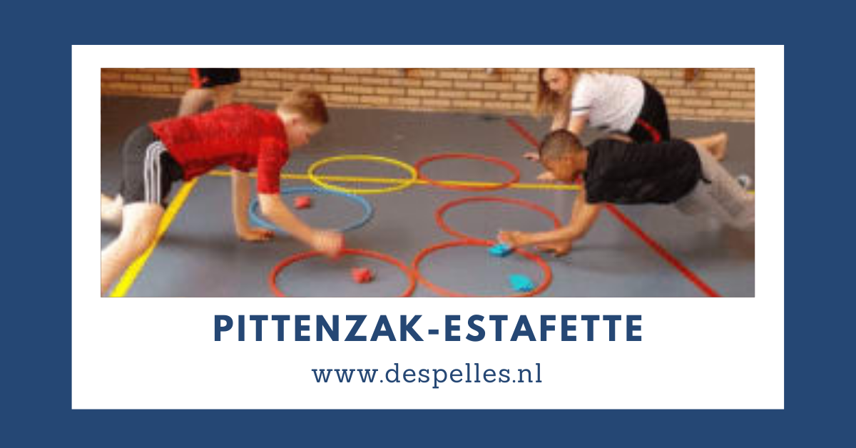 Pittenzak-Estafette in de gymles