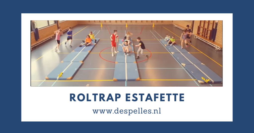 Roltrap-Estafette in de gymles
