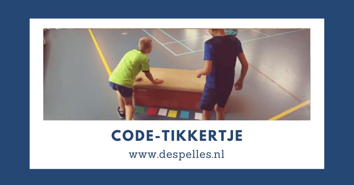 Code-Tikkertje in de gymles