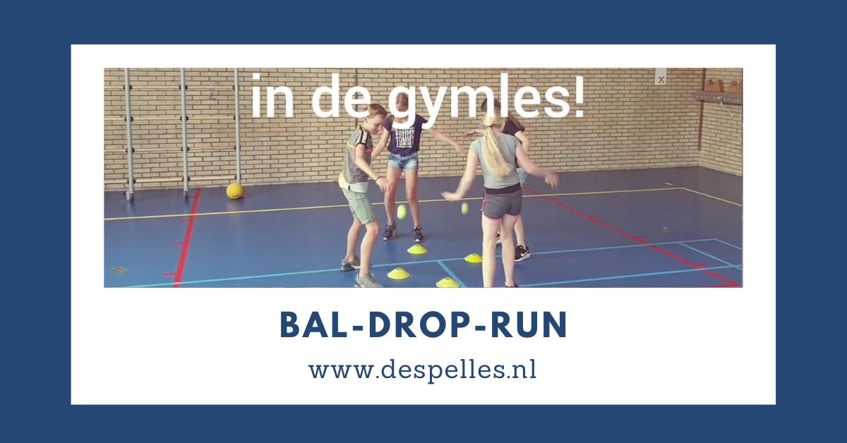 Bal-Drop-Run in de gymles