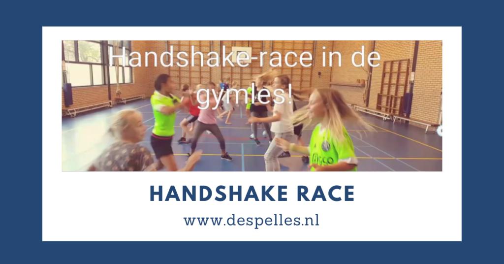 Handshake-race in de gymles
