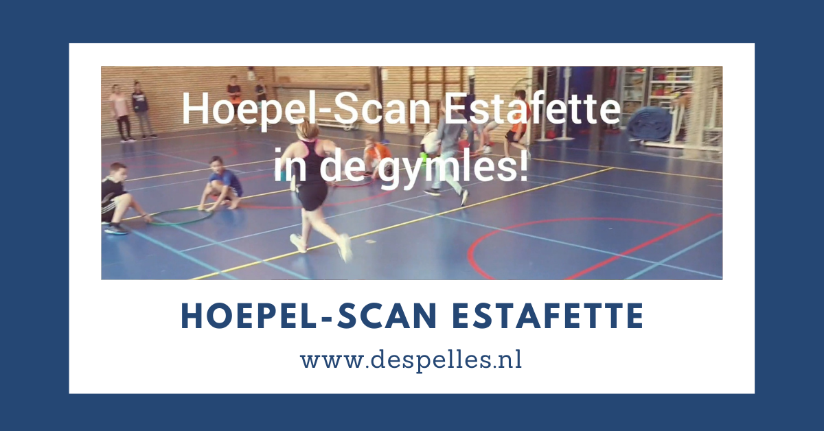 Hoepel-Scan Estafette in de gymles