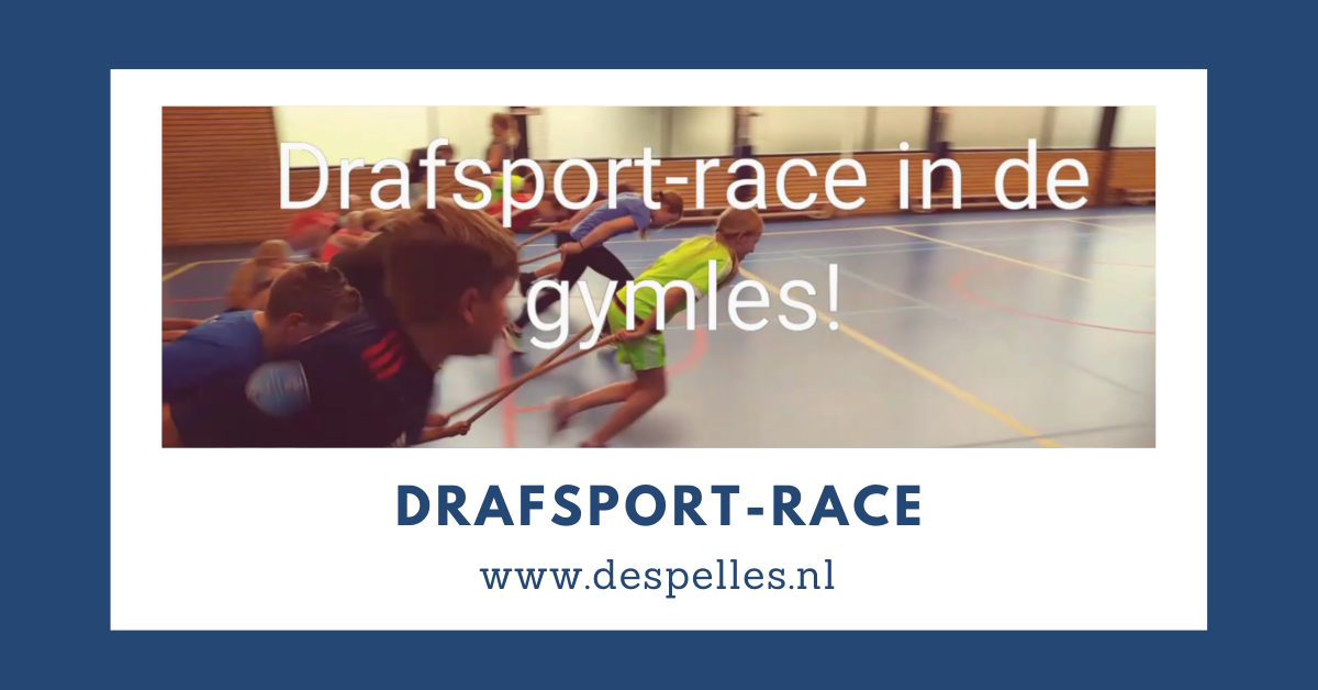 Drafsport-race in de gymles