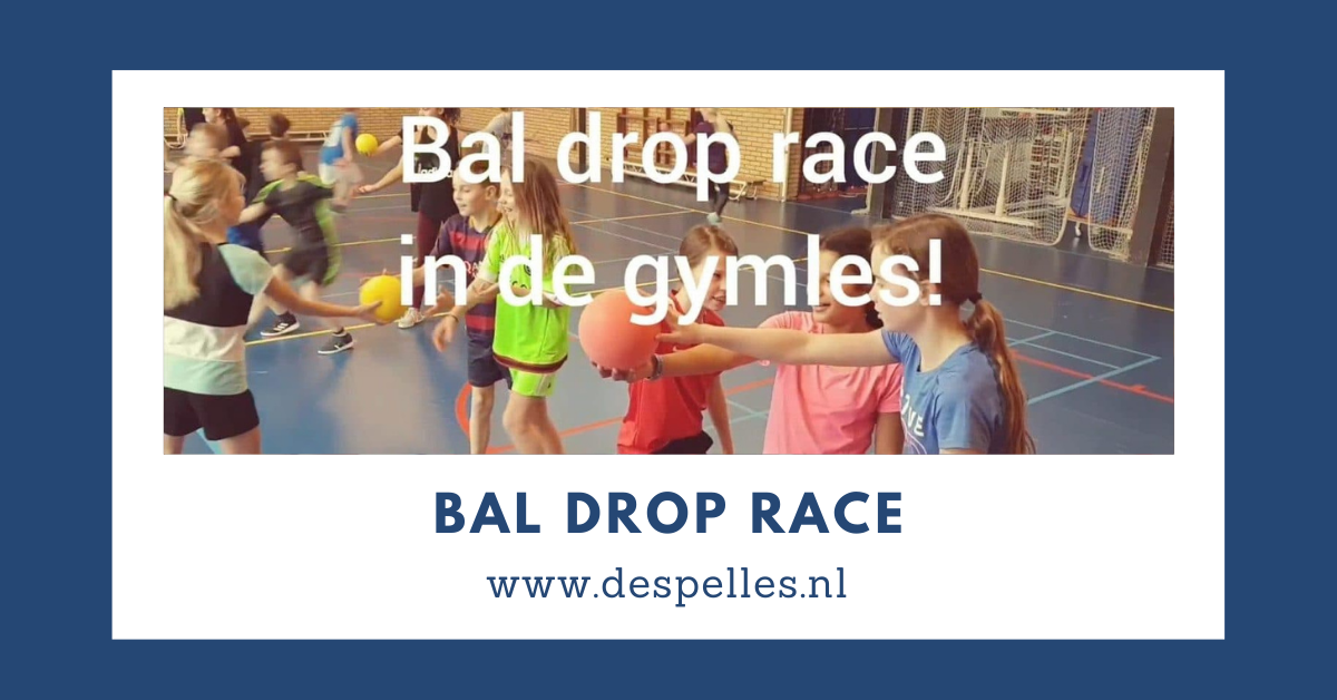 Bal-Drop race in de gymles
