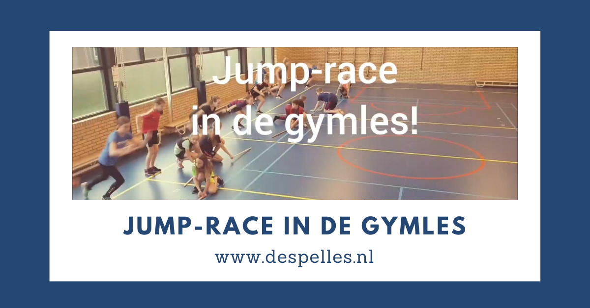 Jump Race in de gymles