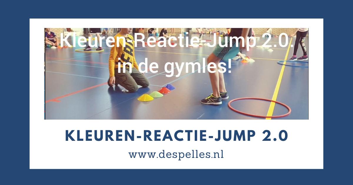 Kleuren-Reactie-Jump 2.0 in de gymles