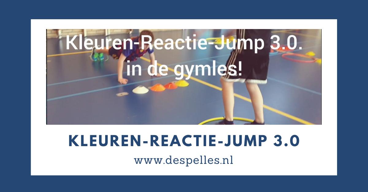 Kleuren-Reactie-Jump 3.0 in de gymles