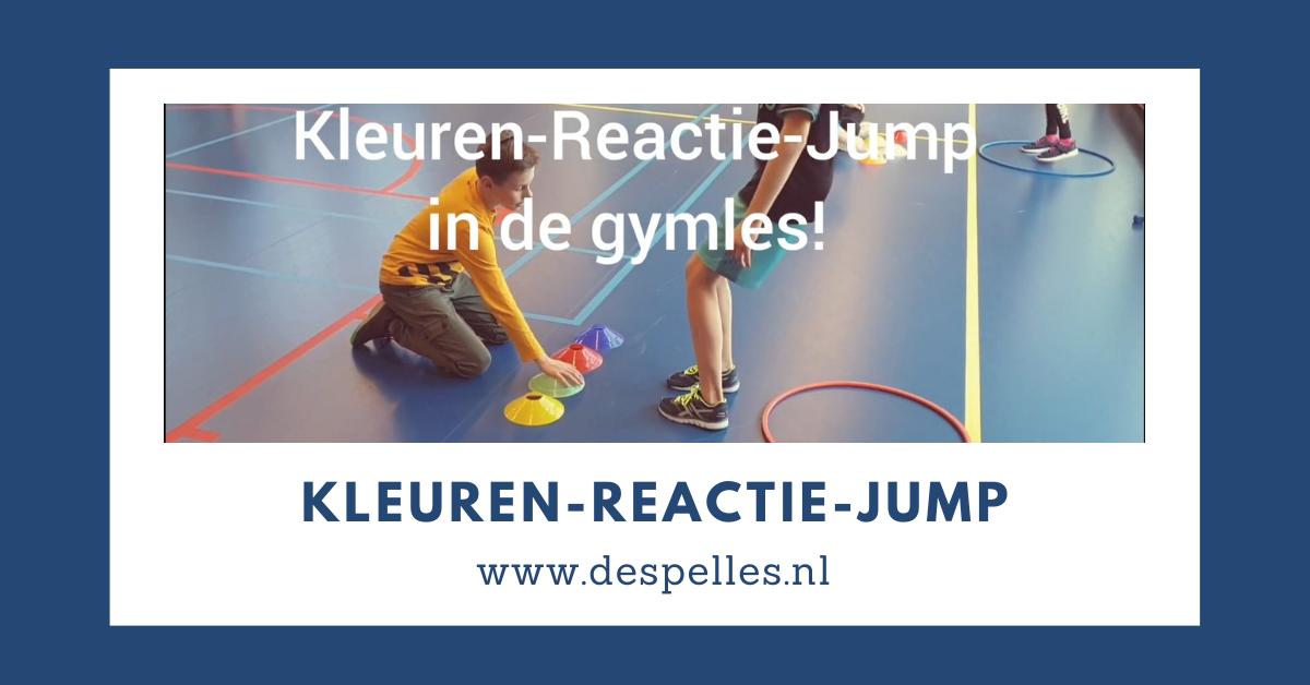 Kleuren-Reactie-Jump in de gymles