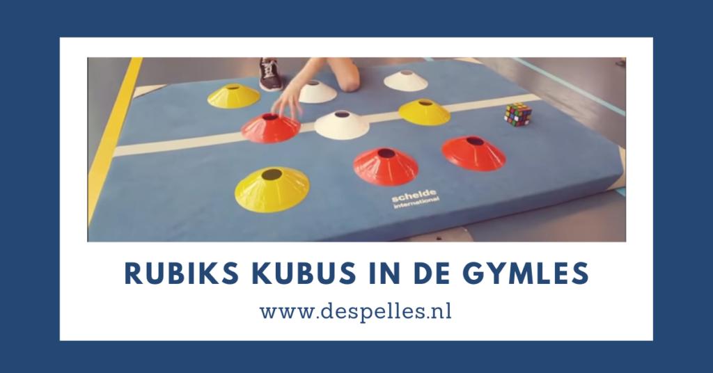 Rubiks Kubus in de gymles