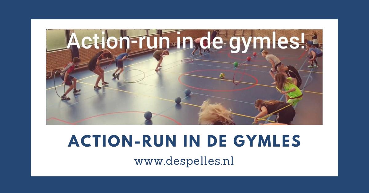 Action-run in de gymles