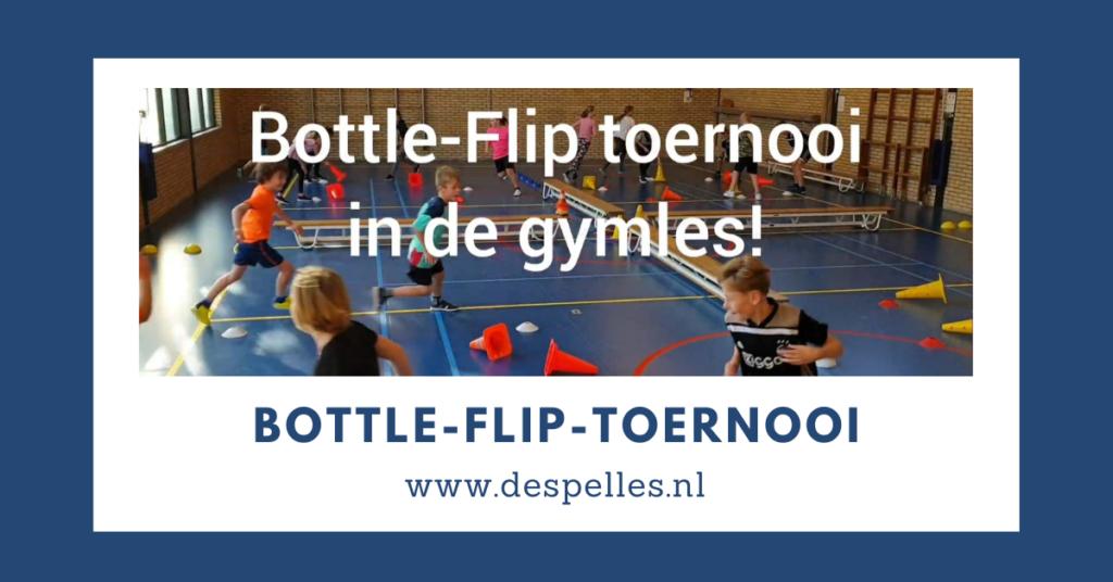 Bottle-Bottle Flip toernooi in de gymles