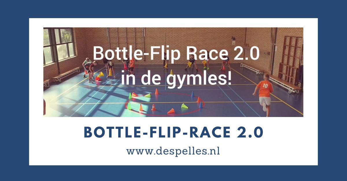 Bottle-Flip race 2.0 in de gymles