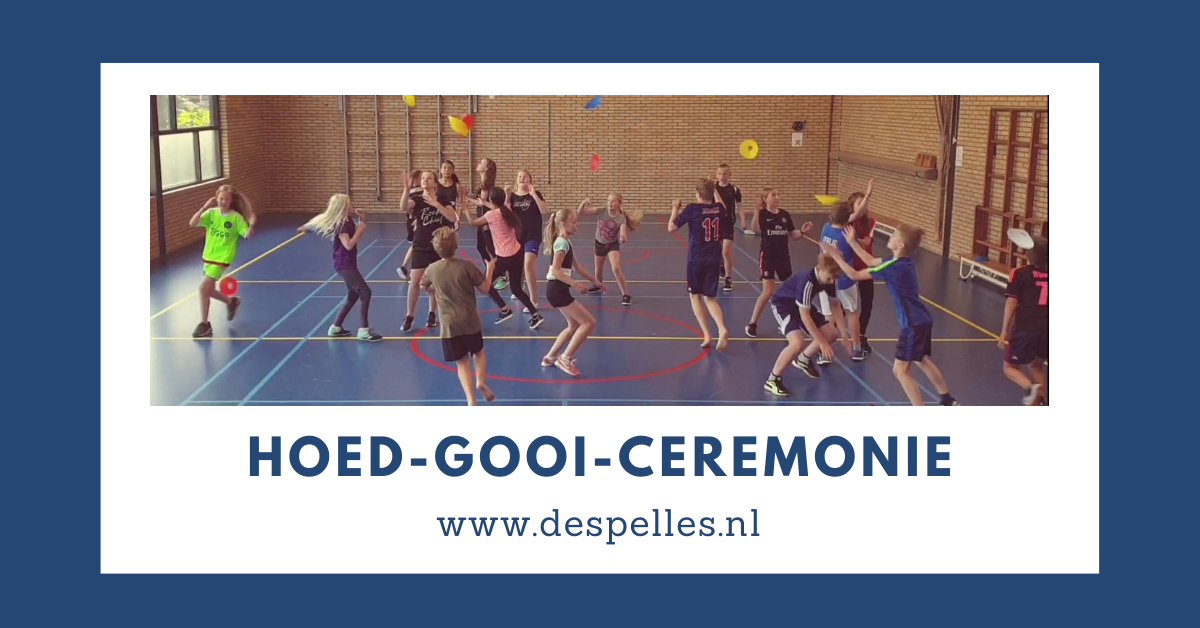 Hoed-Gooi-Ceremonie in de gymles