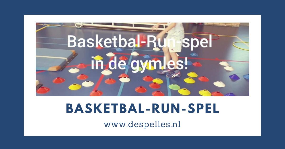 Basketbal-Run-Spel in de gymles