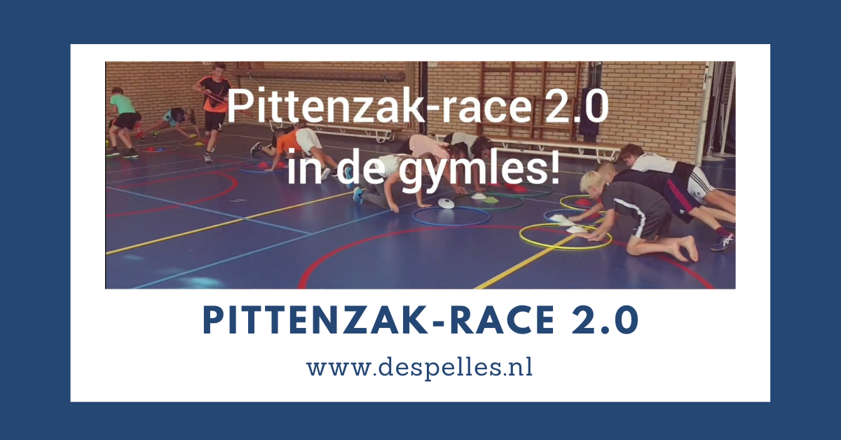 Pittenzak-race 2.0 in de gymles