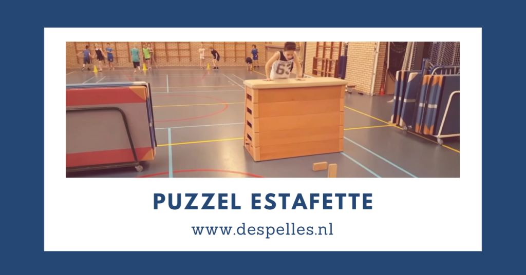 Puzzel Estafette in de gymles