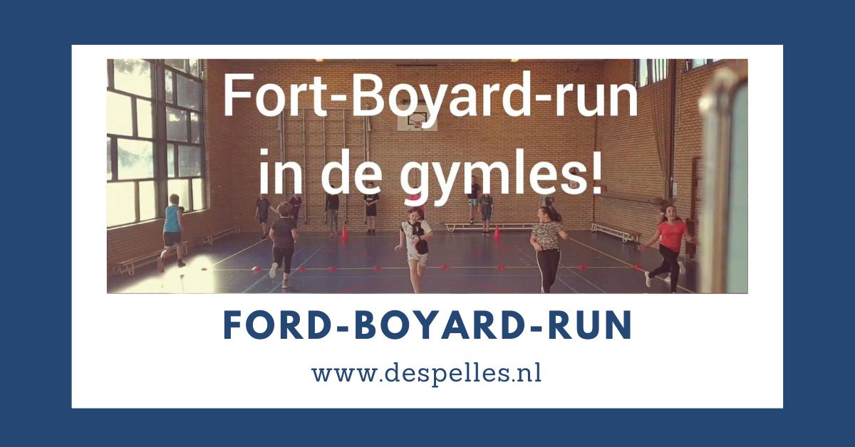 Fort Boyard run in de gymles buiten