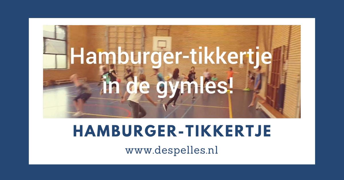 Hamburger-tikkertje in de gymles