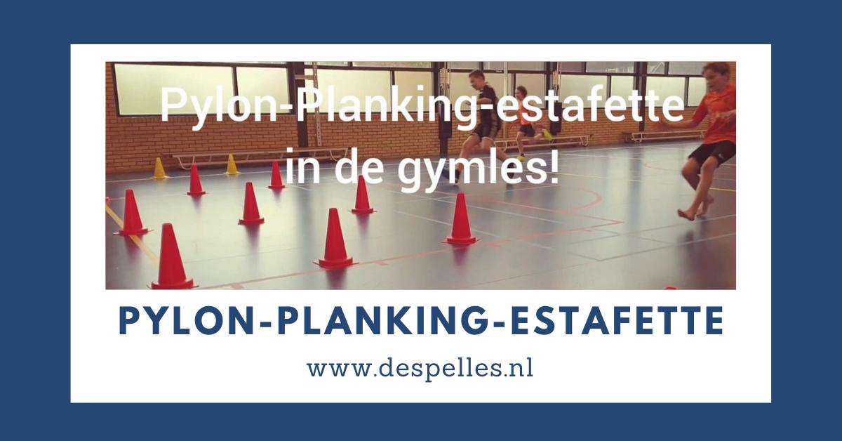 Pylon-Planking-estafette in de gymles