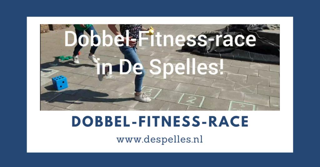 Buitenspellen - Dobbel-Fitness-race in de gymles