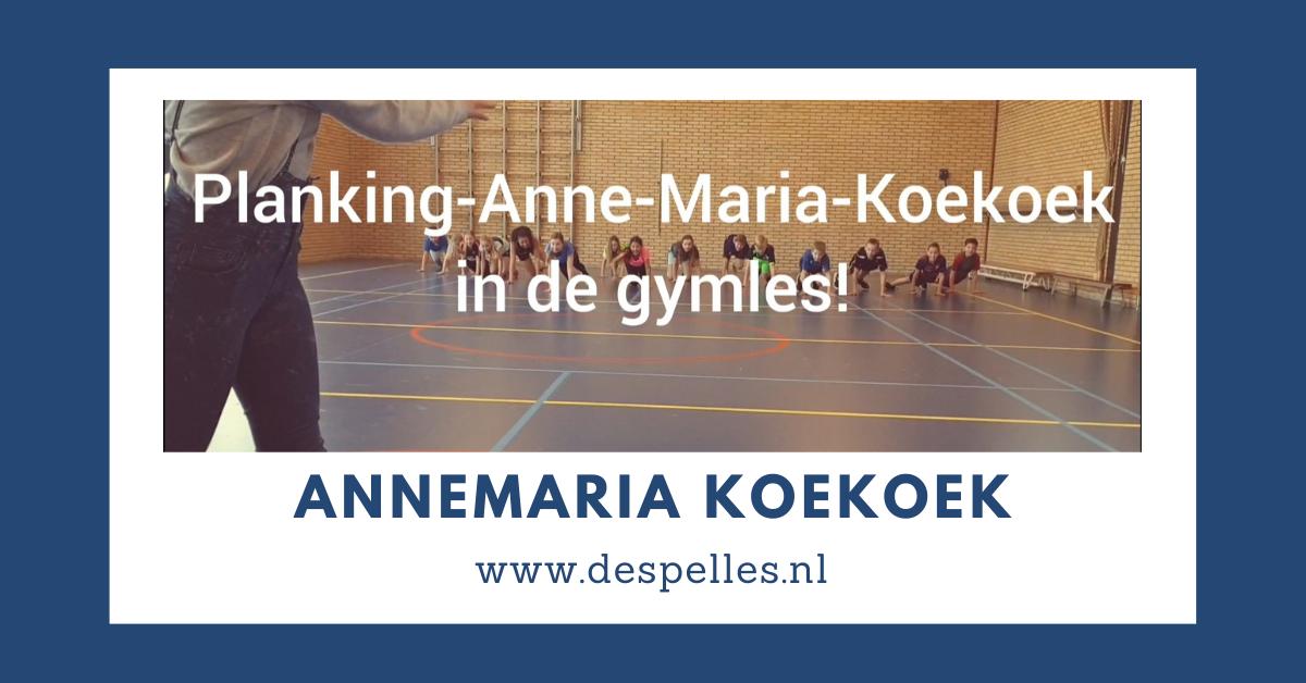 Planking Annemaria-Koekoek in de gymles