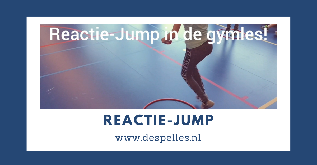 Reactie-Jump in de gymles