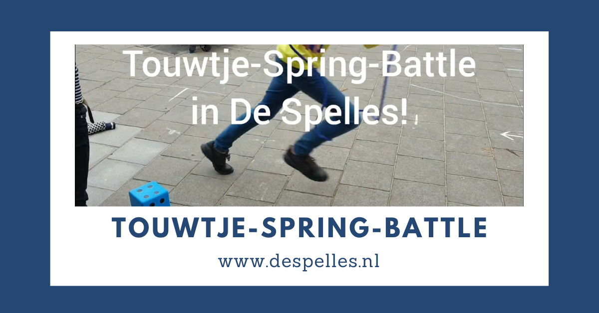 Touwtje-Spring-Battle in de gymles