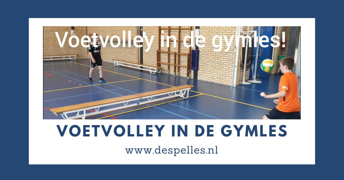 Voetvolley in de gymles