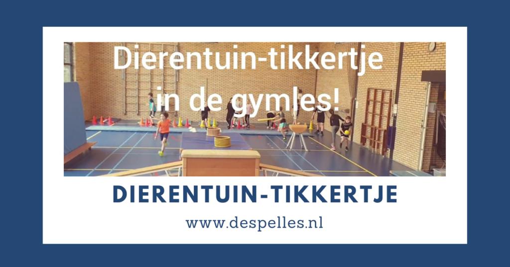 Dierentuin-tikkertje in de gymles