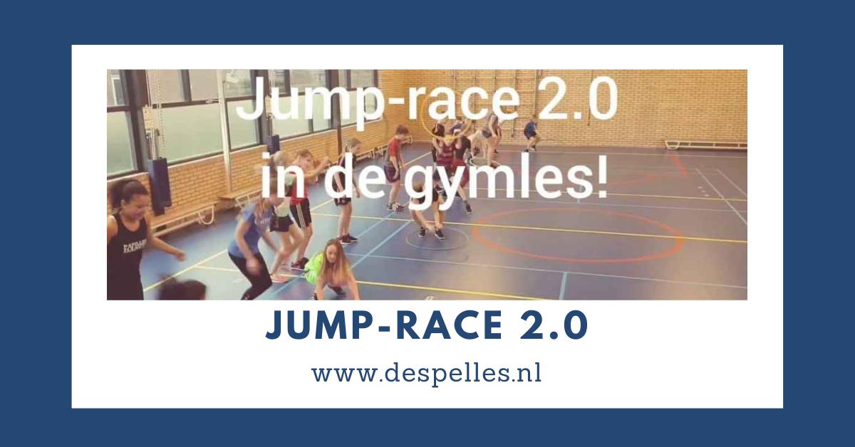 Jump-Race 2.0 in de gymles