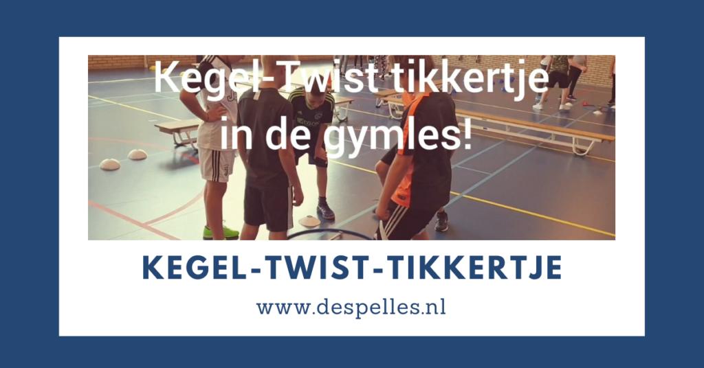 Tikspelen - Kegel Twist Tikkertje in de gymles