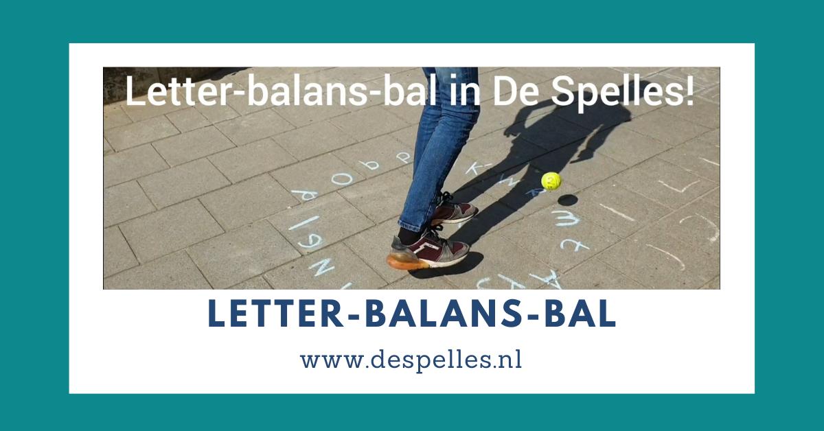Letter-Balansbal in De Spelles