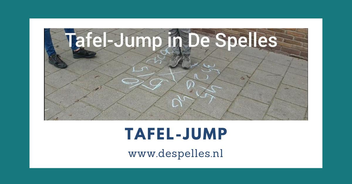 tafel-jump in de gymles