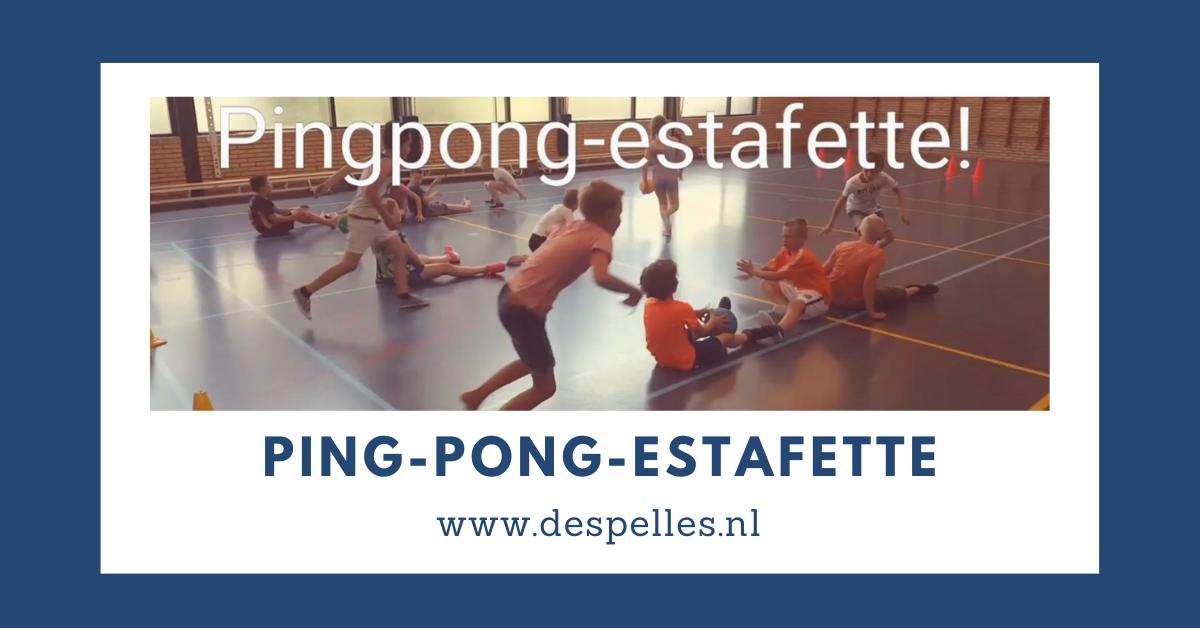 Ping-Pong-Estafette in de gymles