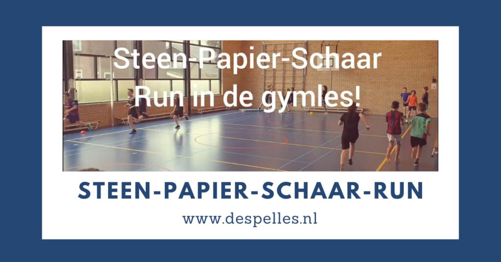 Steen-Papier-Schaar-run in de gymles