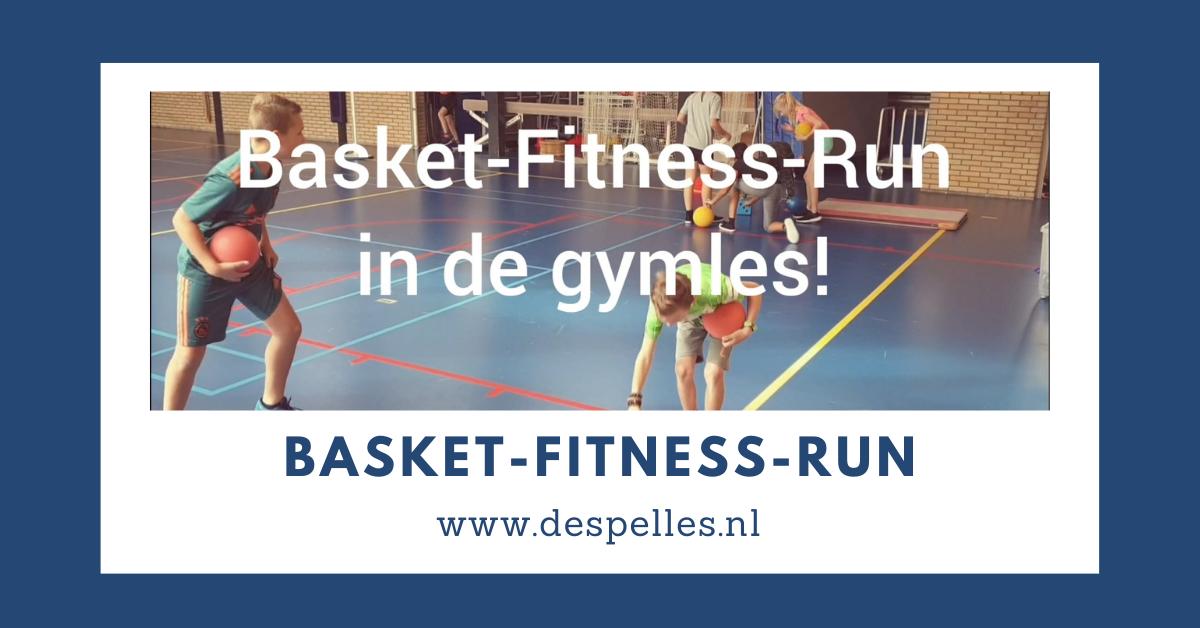 Basket-Fitness-Run in de gymles