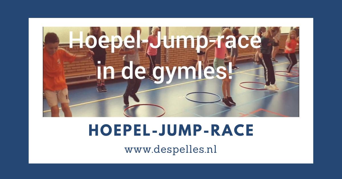 Hoepel-Jump-race in de gymles