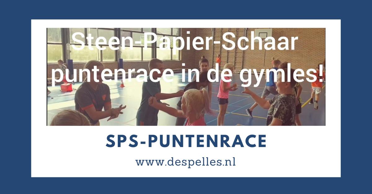 Steen Papier Schaar Puntenrace in de gymles