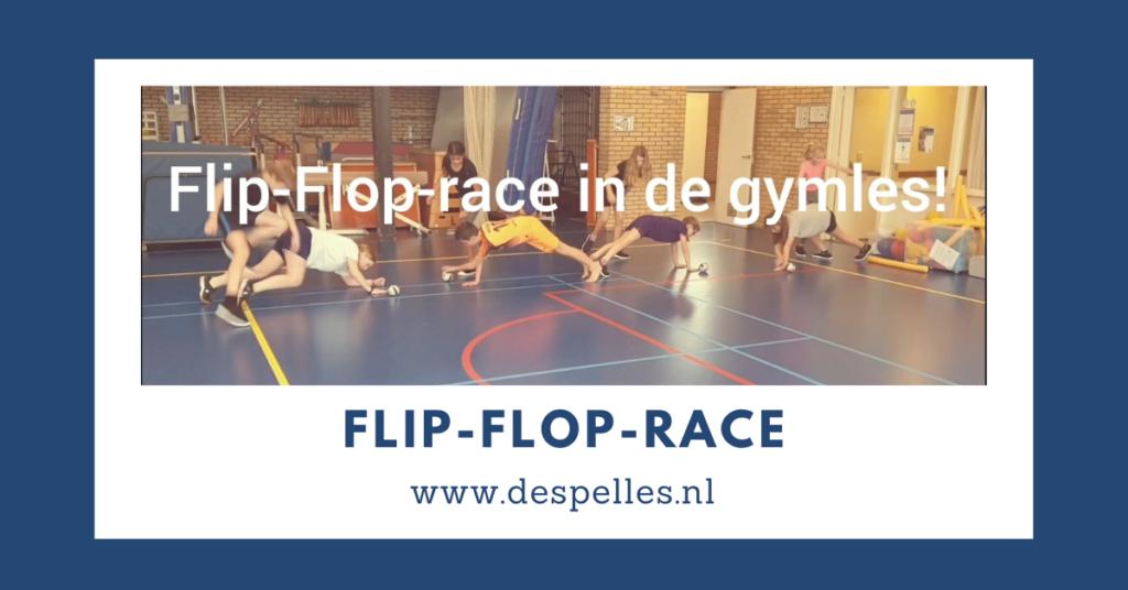 Flip-Flop-race in de gymles