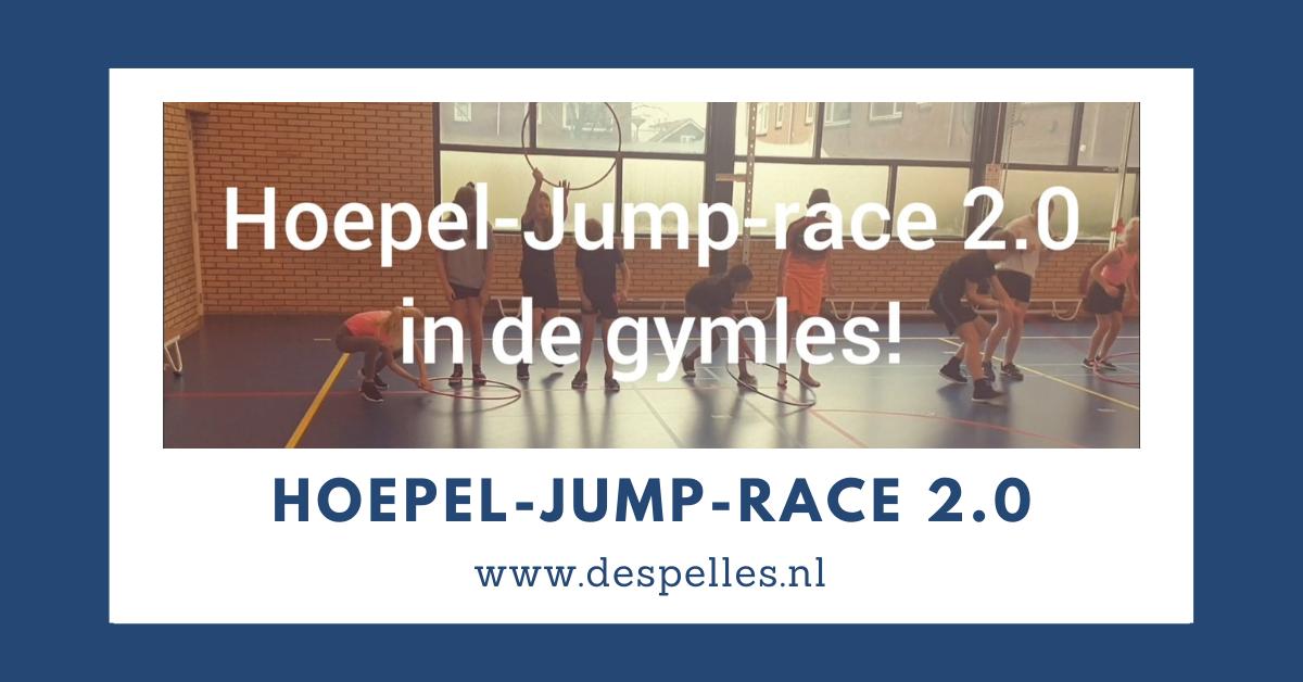 Hoepel-jump-race 2.0 in de gymles