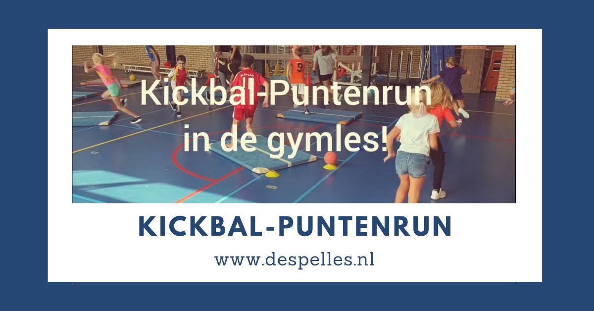 Kickbal-Puntenrun in de gymles