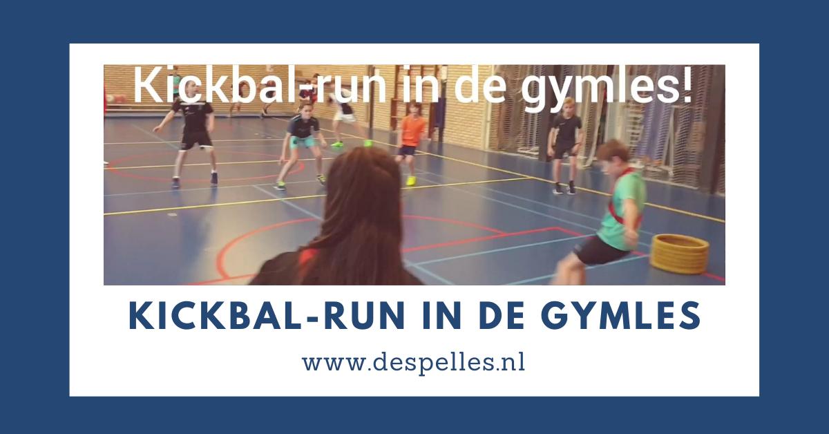 Kickbal-run in de gymles