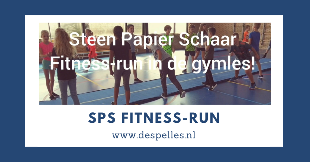 Steen-Papier-Schaar-Fitness-run in de gymles