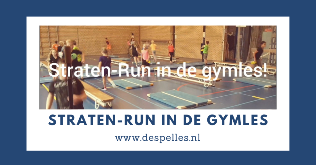 Straten-run in de gymles