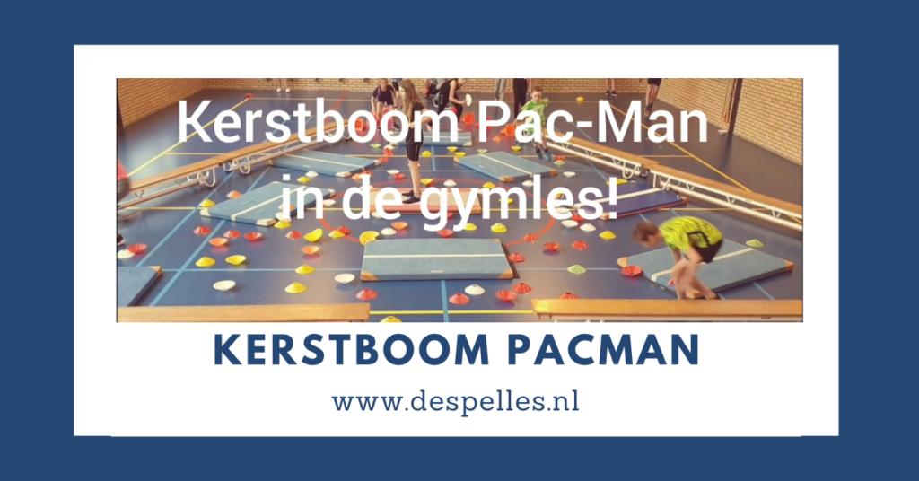 Kerstboom Pac-Man in de gymles