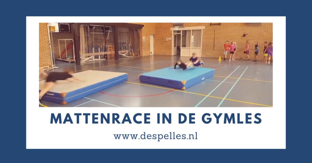 Mattenrace in de gymles