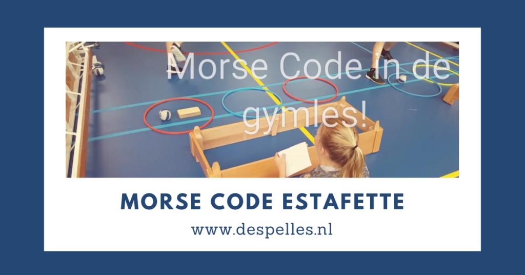 Morse Code Estafette in de gymles